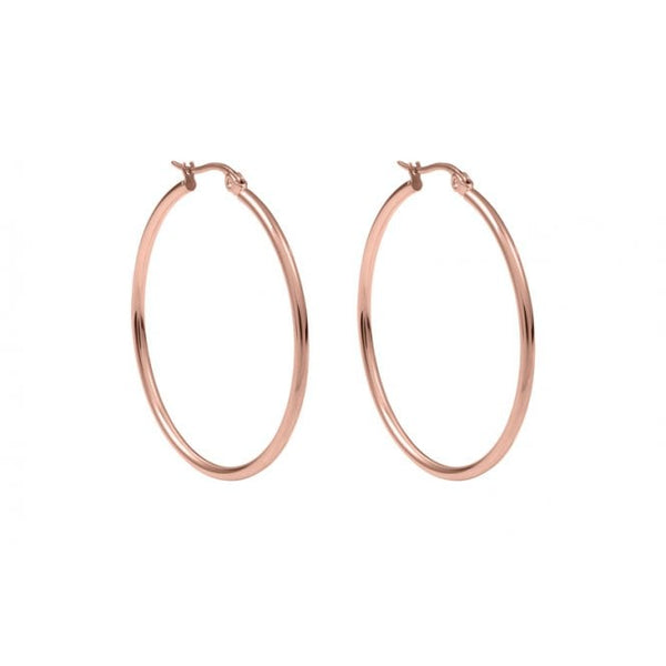 Qudo Interchangeable 30mm Hoop Earrings in Rose