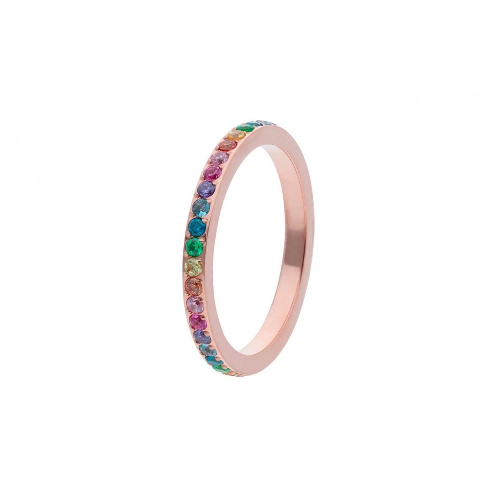 Qudo Fine Multi Colour Band in Rose