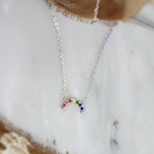 Junk Jewels Rainbow Necklace