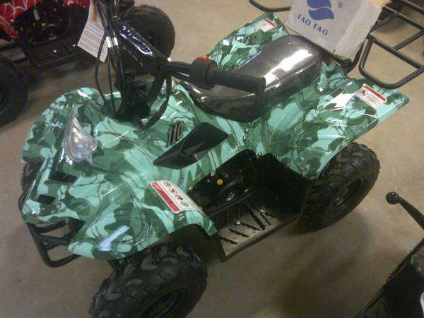 New Kids 110cc ATV - Coolster 3050C - ATV with Headlight & Rack - CA Carb Approved - Free Shipping atvs Wholesale ATV Army Camo