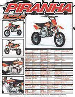 New Piranha - P125-E - Racing Dirt Bike