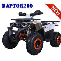 New Adult 200cc Utility - TaoTao Raptor200 - ATV - CA Carb Approved - Free Shipping atvs Wholesale ATV Orange/White