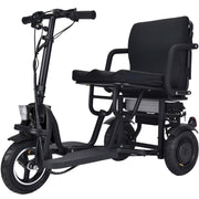 Folding Mobility Electric Trike 48v 700w Dual Motor Lithium Black