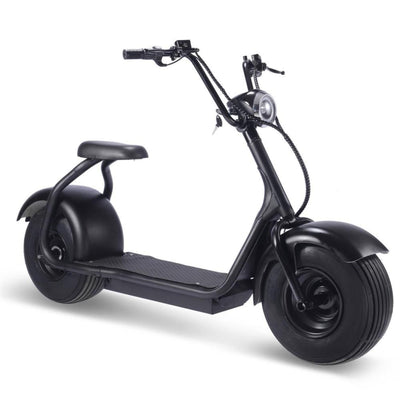 Fat Tire 60v 18ah 2000w Lithium Electric Scooter Black