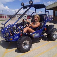 New 150cc - Trailmaster 150-XRS/XRX - Go Kart w/Reverse - CA Carb Approved - Free Shipping go kart Wholesale ATV blue XRX