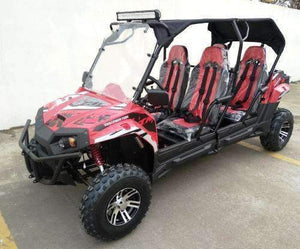 New 150cc - Trailmaster Challenger4 150X - Deluxe Youth/Adult 4 Seater UTV - CA Carb Approved - Free Shipping utvs Wholesale ATV Red