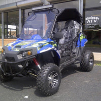 New 150cc - Trailmaster Challenger 150X - Deluxe Youth UTV - CA Carb Approved - Free Shipping utvs Wholesale ATV Blue