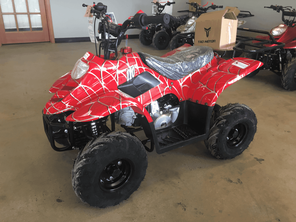 New Kids 110cc ATV - Tao Tao 110b1 - ATV with Headlight & Rack - CA Carb Approved - Free Shipping atvs Wholesale ATV