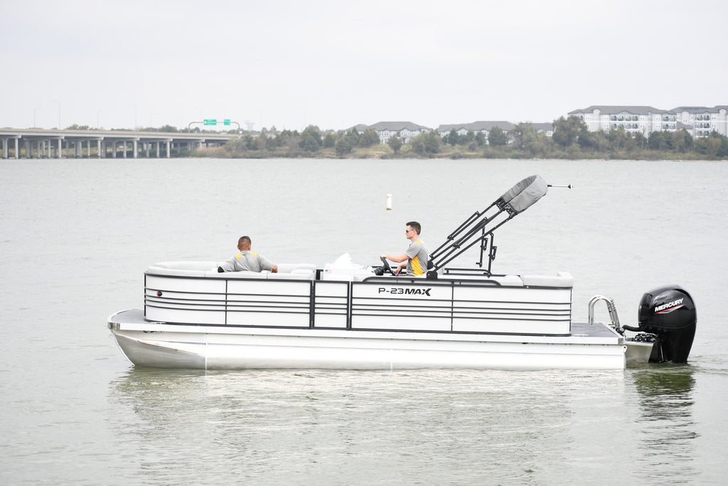New Massimo P-23 Max Pontoon Boats w/Double Axel Trailer