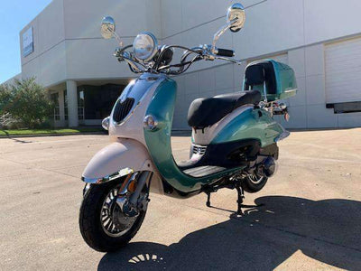 New 150cc - Trailmaster Sorrento 150a - Retro Style Scooter - Free Shipping scooters Wholesale ATV Green
