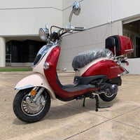 New 150cc - Trailmaster Sorrento 150a - Retro Style Scooter - Free Shipping scooters Wholesale ATV Red