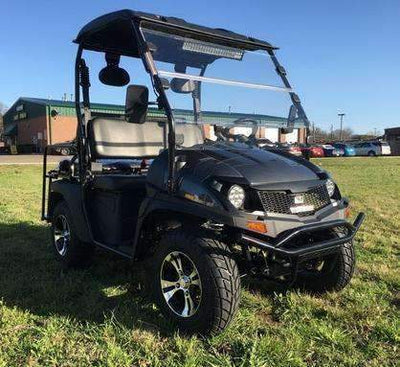 New 200cc - Trailmaster Taurus 200 MFV - UTV Side by Side/Golf Cart with High/Low Gear - Fully Assembled - Free Shipping utvs Wholesale ATV Black Carbon