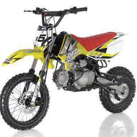 New 125cc Youth - Apollo DBX5 - 4 Speed Manual Dirt Bike - Free Shipping dirt bike Wholesale ATV yellow