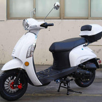 New 49cc - Dongfang Classic 50 - Retro Style Scooter - Free Shipping scooters Wholesale ATV White