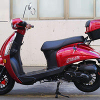 New 49cc - Dongfang Classic 50 - Retro Style Scooter - Free Shipping scooters Wholesale ATV Burgundy