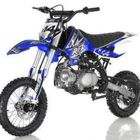 New Adult Size - Apollo DBX14 - 125cc Semi-Auto Dirt Bike - Free Shipping dirt bike Wholesale ATV blue