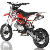 New Adult Size - Apollo DBX14 - 125cc Semi-Auto Dirt Bike - Free Shipping dirt bike Wholesale ATV red