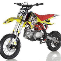 New Adult Size - Apollo DBX14 - 125cc Semi-Auto Dirt Bike - Free Shipping dirt bike Wholesale ATV Yellow