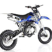 New Adult Size - Apollo DBX15 - 125cc 4 Speed Manual Dirt Bike - Free Shipping dirt bike Wholesale ATV blue