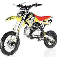 New Adult Size - Apollo DBX15 - 125cc 4 Speed Manual Dirt Bike - Free Shipping dirt bike Wholesale ATV Yellow