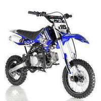 New Adult Size - Apollo DBX16 - 125cc Fully Automatic Dirt Bike - Free Shipping dirt bike Wholesale ATV blue