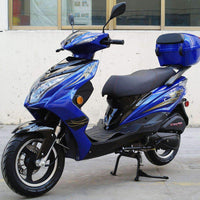 New 49cc- Dongfang Super 50 Scooter - Free Shipping scooters Wholesale ATV blue