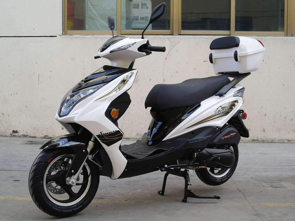 New 49cc- Dongfang Super 50 Scooter - Free Shipping scooters Wholesale ATV white
