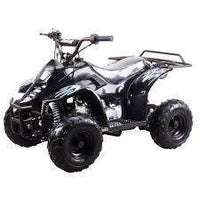 New Kids 110cc ATV - Coolster 3050C - ATV with Headlight & Rack - CA Carb Approved - Free Shipping atvs Wholesale ATV Black