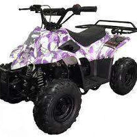 New Kids 110cc ATV - Coolster 3050C - ATV with Headlight & Rack - CA Carb Approved - Free Shipping atvs Wholesale ATV Purple Army Camo