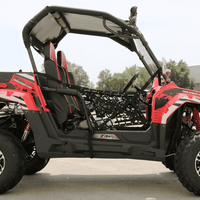 New 150cc - Trailmaster Challenger 150X - Deluxe Youth UTV - CA Carb Approved - Free Shipping utvs Wholesale ATV Red