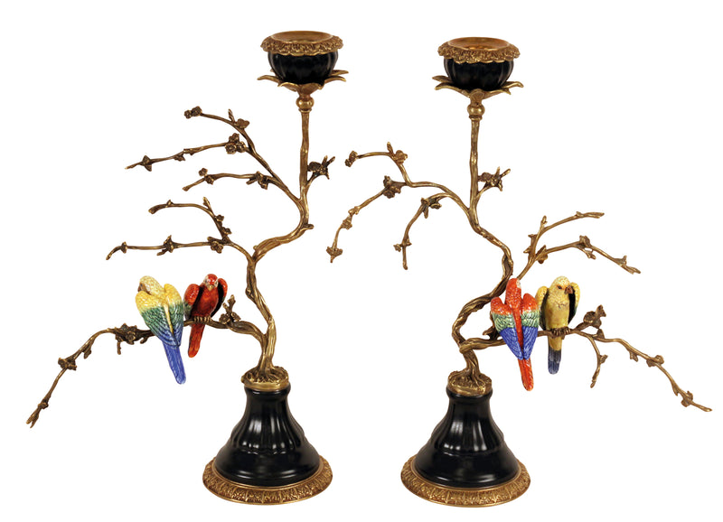Pair of Birds Candle Holders