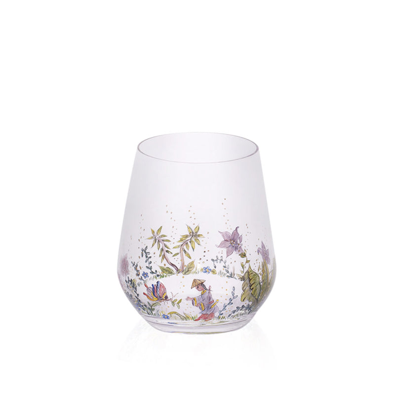 Chinoiserie Water Glass