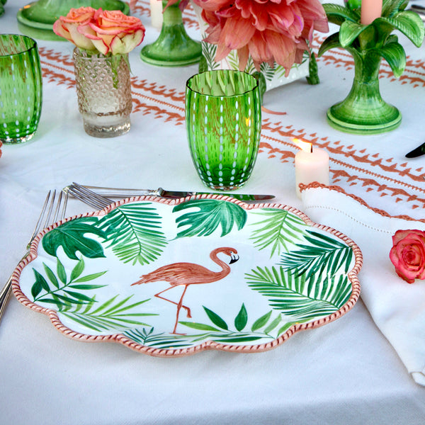 Flamingo Set-Of-Six Dinner Plates