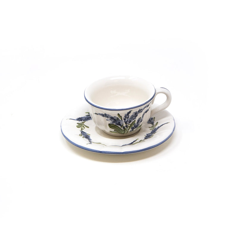 Flower Coffee Cup with Saucer