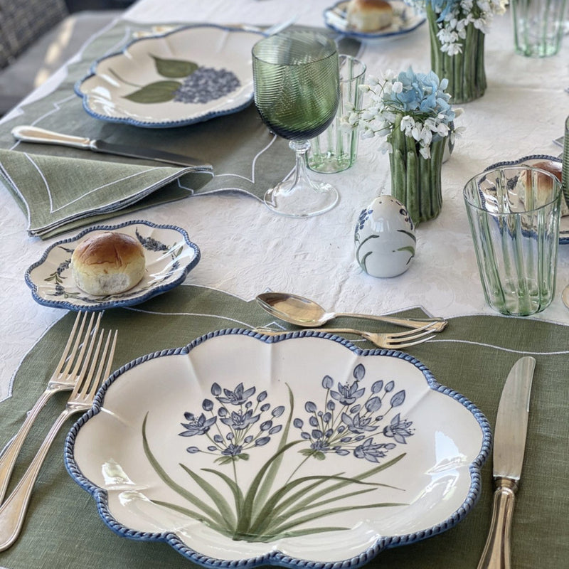 Flower Set-Of-Six Salad Plates