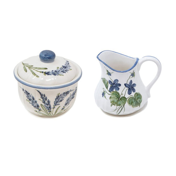Flower Set of 2 Milk Jar and Sugar Pot