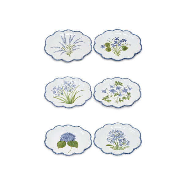 Flower Set-Of-Six Dinner Plates
