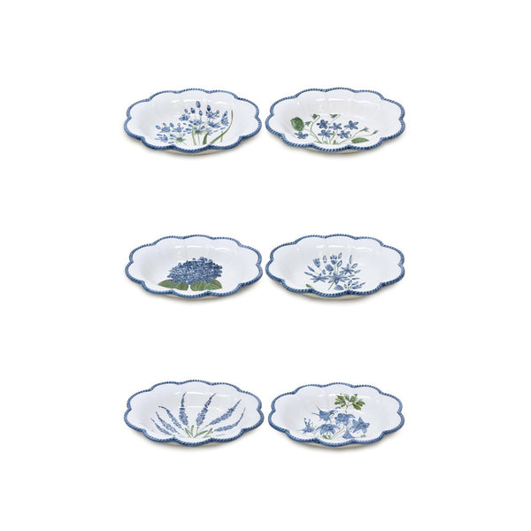 Flower Set-Of-Six Soup Bowls