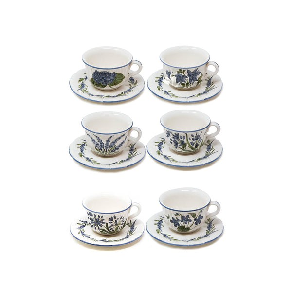 Flower Set-Of-Six Tea Cups