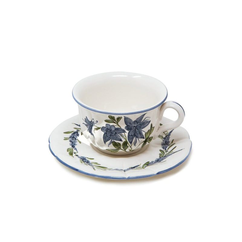 Flower Tea Cup with Saucer No. 2