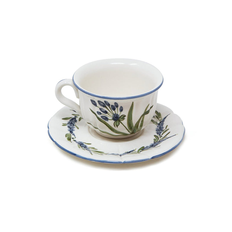 Flower Tea Cup with Saucer No. 4
