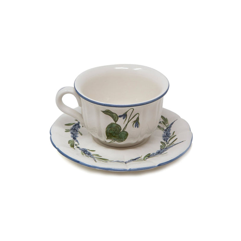 Flower Tea Cup with Saucer No. 6