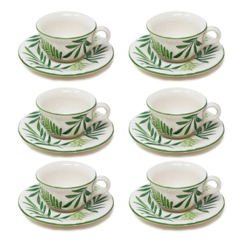Garden Set-Of-Six Tea Cups