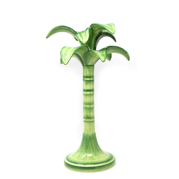 Green Palm Candle Holders - Big