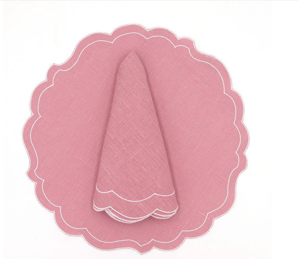 Baby Pink Placemat & Napkin