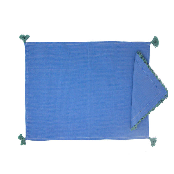 Blue Placemat & napkin