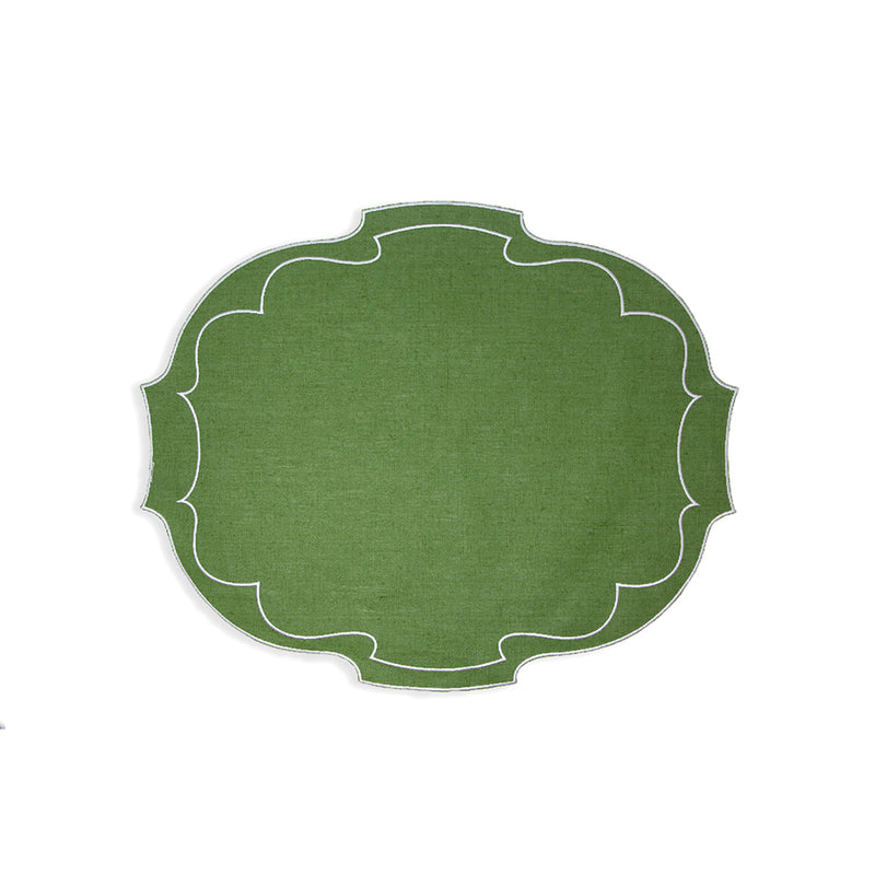 Green Placemat & Napkin