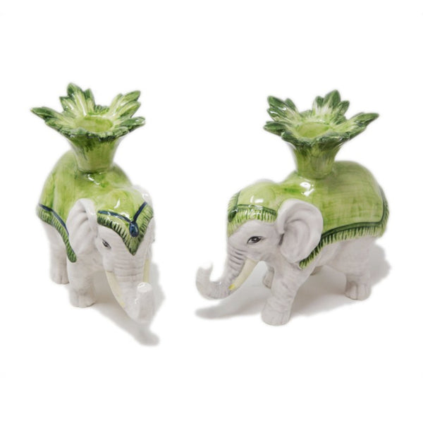 Set-of-2 Elephant Candle Holders