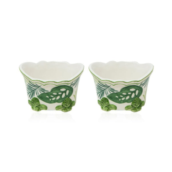 Set-of-Two Mini Garden Cachepot