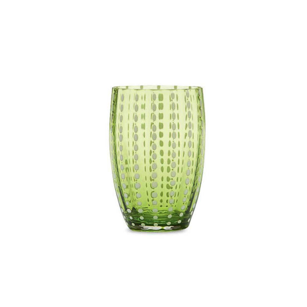 Tumbler Glass - Light Green Pearl